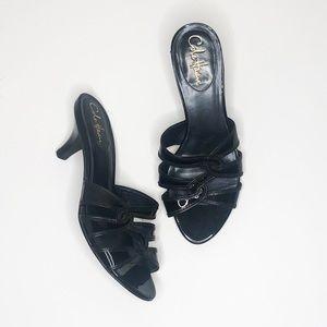 Cole haan Black mules heels EUC 8.5